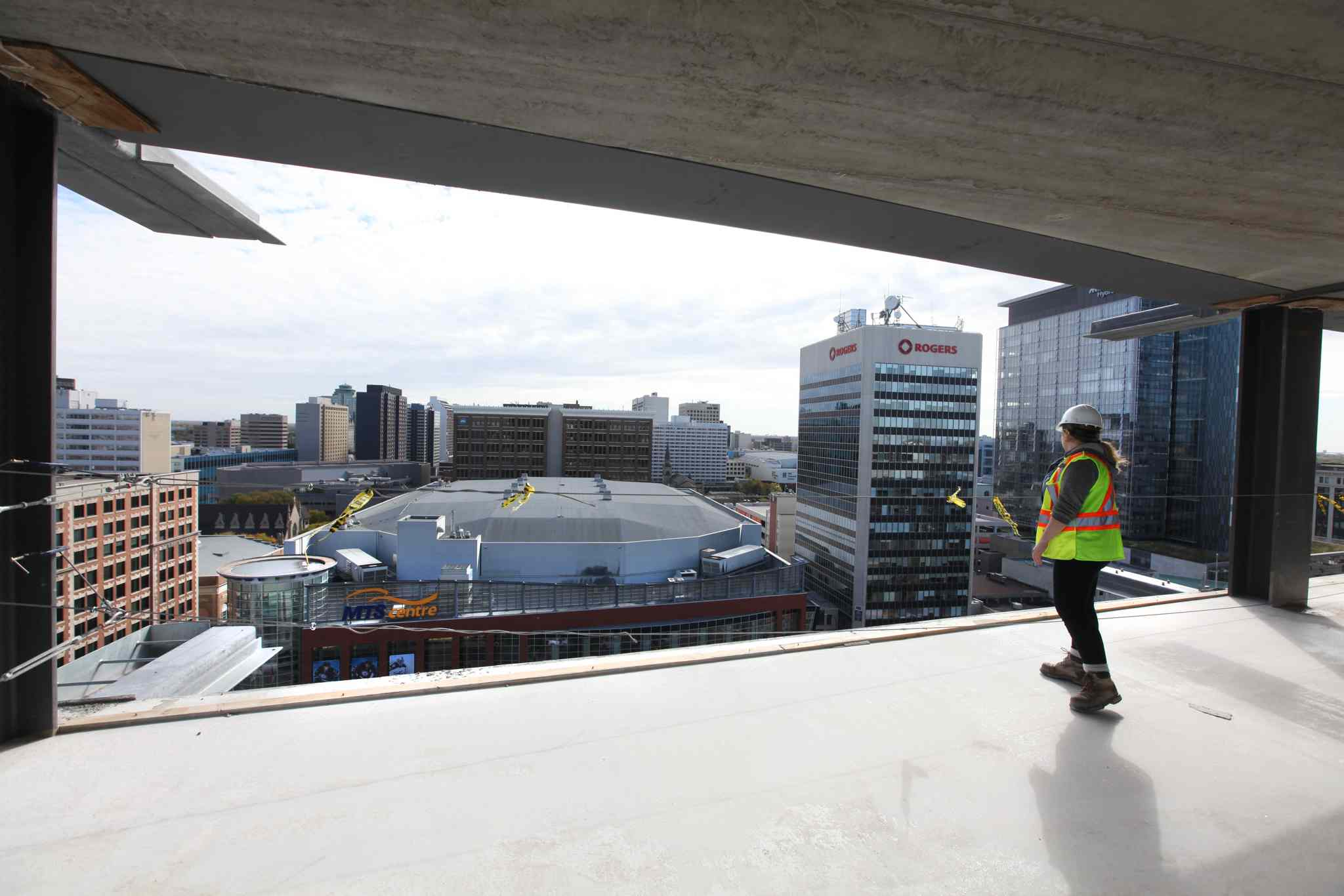 Glasshouse Skylofts, a 21-storey condo building in downtown Winnipeg is about 65 per cent complete.
