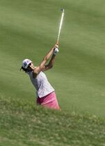 Paula Reto watches her approach shot on the ninth hole during the second round of the Yokohama Tire LPGA Classic golf tournament on Friday, Sept. 19, 2014, in Prattville, Ala. (AP Photo/The Montgomery Advertiser, Albert Cesare) NO SALES