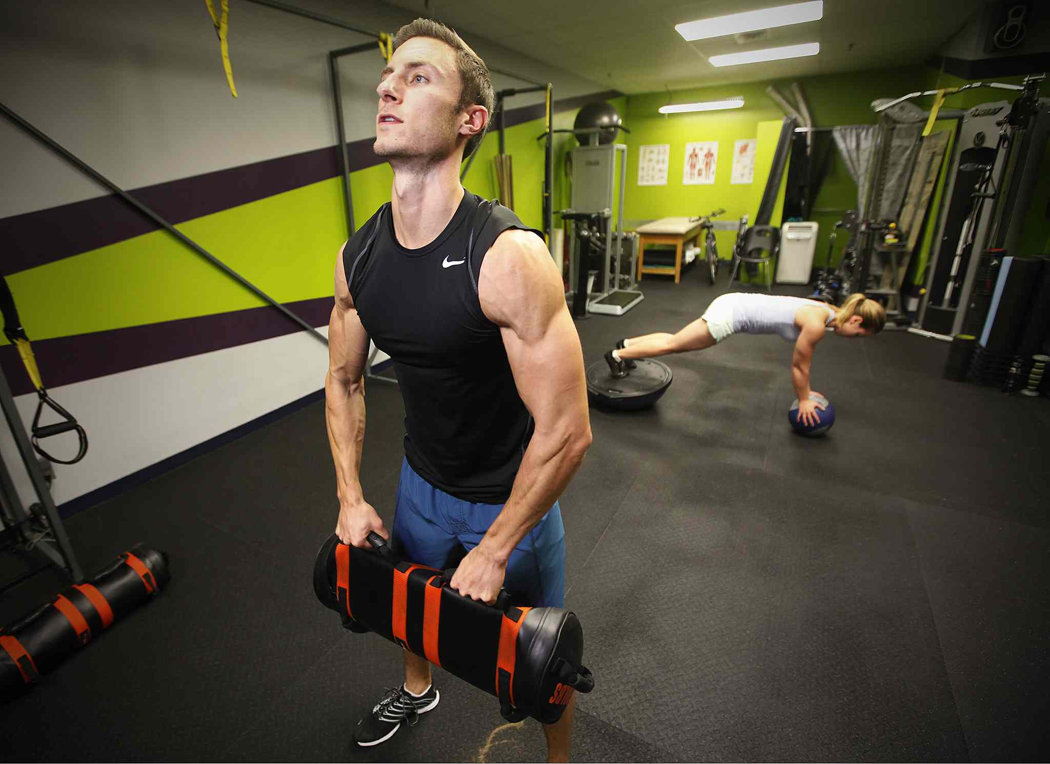 Mikhail Gerylo, who is 44th world ranked obstacle course racer, trains at Serratus Fitness the night before leaving for the world championships in Cincinnati this coming weekend.