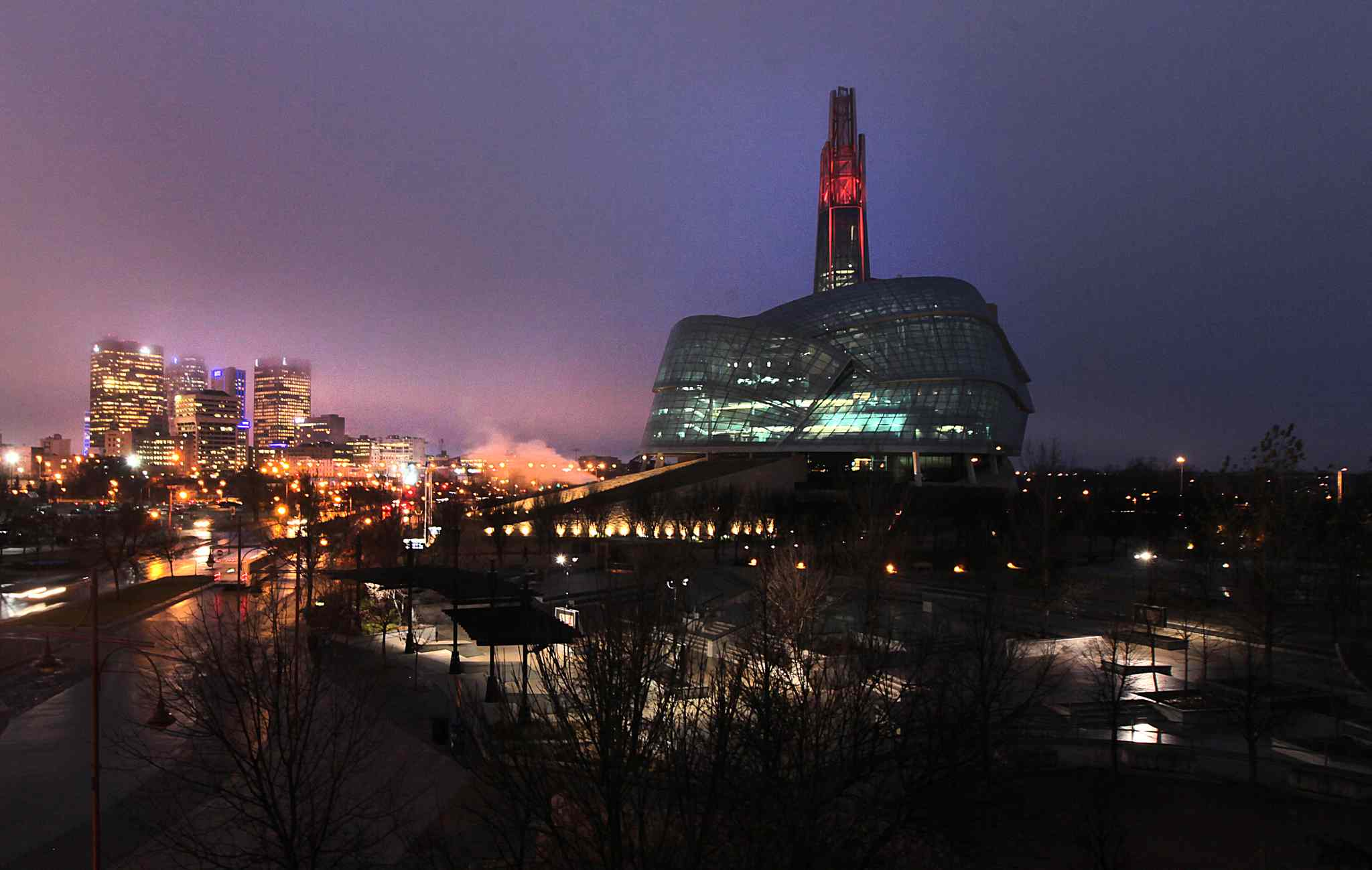 The Canadian Museum for Human Rights is one of Winnipeg's top attractions, according to National Geographic Traveler.