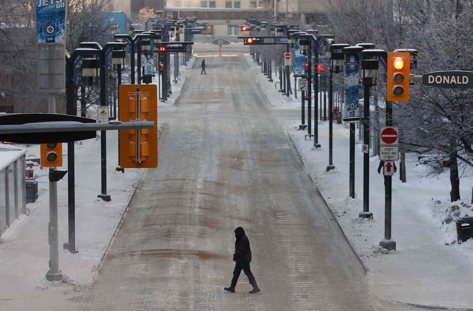 Downtown Winnipeg appeared almost deserted as many took a few days off after New Year's.
