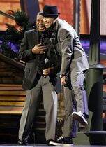 FILE - In this Nov. 11, 2010 file photo, Ben E. King, left, and Prince Royce perform