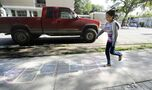 Hospital's hopscotch prompts passersby to prance