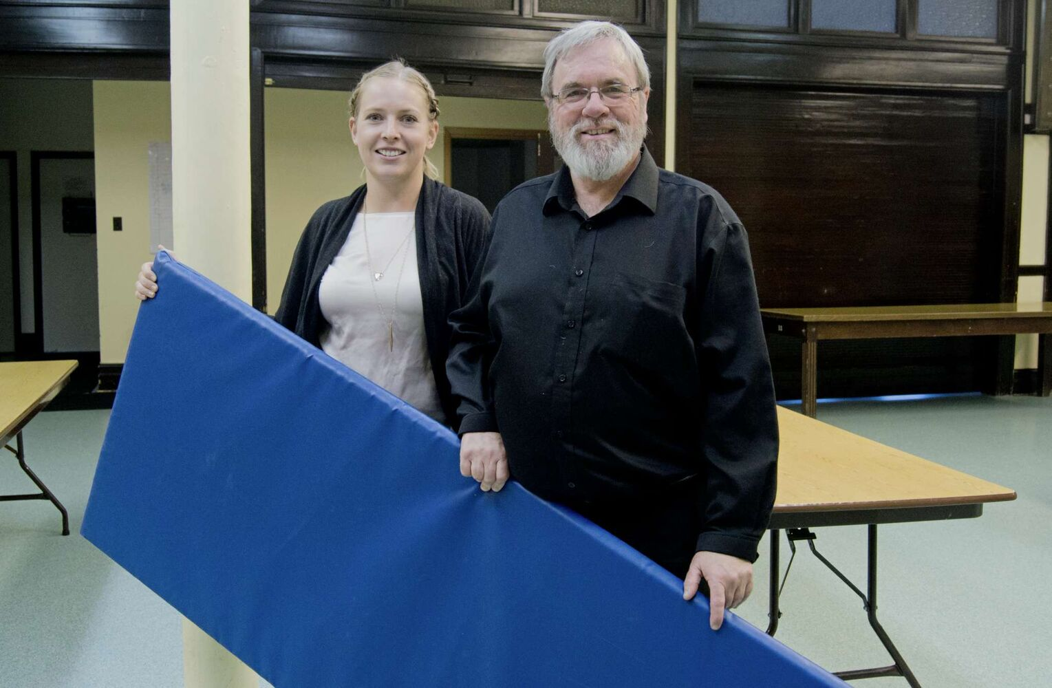 Tessa Blaikie Whitecloud and minister Bob Gilbert are leading a new initiative to serve Winnipeg's homeless at Augustine United Church called Just A Warm Sleep. (Danielle Da Silva - Sou'wester)