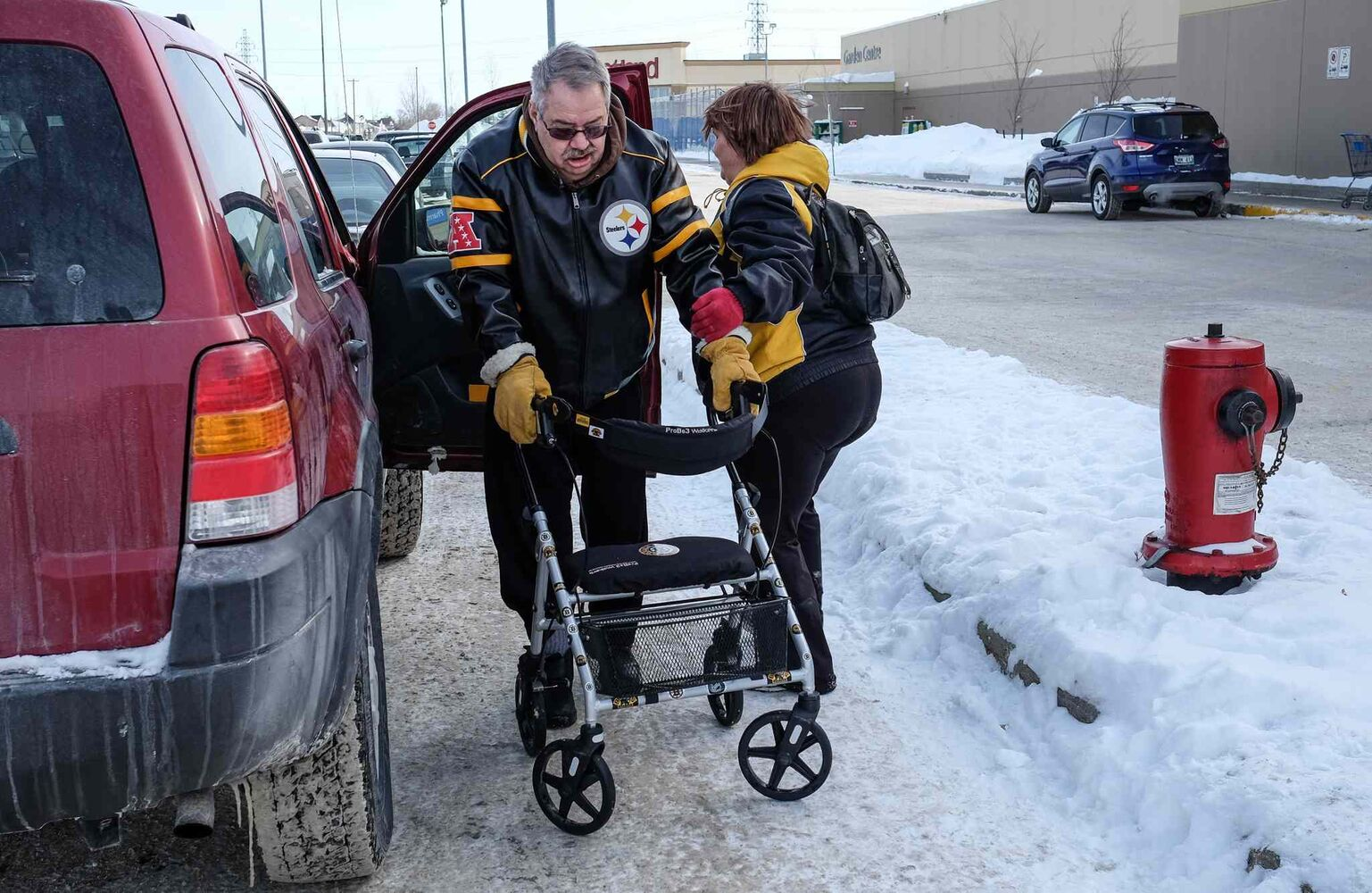 One of the symptoms of the disease is the loss of dexterity, Tom needs a walker now. This along with short term memory loss has been a huge adjustment in the year since his diagnosis.