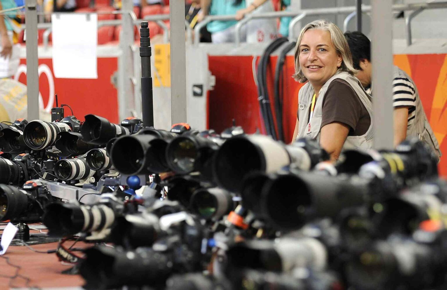 Associated Press photographer Anja Niedringhaus, 48, an internationally acclaimed German photographer, was killed and AP reporter Kathy Gannon was wounded on Friday, April 4, 2014 when an Afghan policeman opened fire while they were sitting in their car in eastern Afghanistan.  The photos that follow celebrate her remarkable photojournalism. (Mark J. Terrill / The Associated Press)