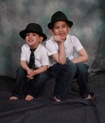 Noah Barthe, left, and Connor Barthe pose in this undated photo posted on the Facebook page of Mandy Trecartin. Police in New Brunswick have charged a man with criminal negligence causing death after two young brothers were asphyxiated by a python. The RCMP said in a release today that the charge against 38-year-old Jean Claude Savoie was laid in provincial court Monday in Campbellton, N.B. Noah Barthe and Connor were found dead on Aug. 5, 2013, after an African rock python escaped its enclosure inside Savoie's apartment in Campbellton, where they were staying for a sleepover. THE CANADIAN PRESS/HO - Facebook