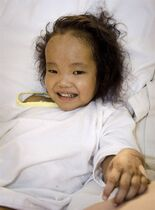 Binh Wagner recovers from a liver transplant operation in Toronto, Tuesday, April 21, 2015.The father of three-year-old Kingston, Ont., twins who underwent potentially life-saving liver transplants couldn't hold back tears as he thanked the anonymous donor who made the surgery possible for Binh.THE CANADIAN PRESS/HO-Courtesy of SickKids