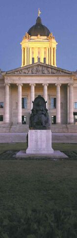 The Manitoba legislature