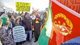City's Eritreans condemn, back FP in twin protests