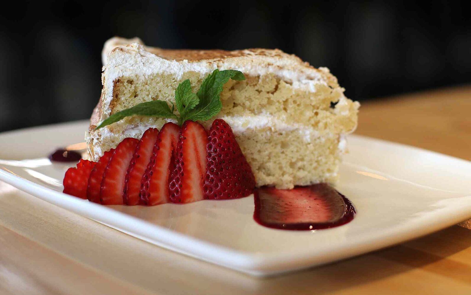 Coconut cake at the Cornerstone Bar and Restaurant  (Jason Halstead / Winnipeg Free Press)