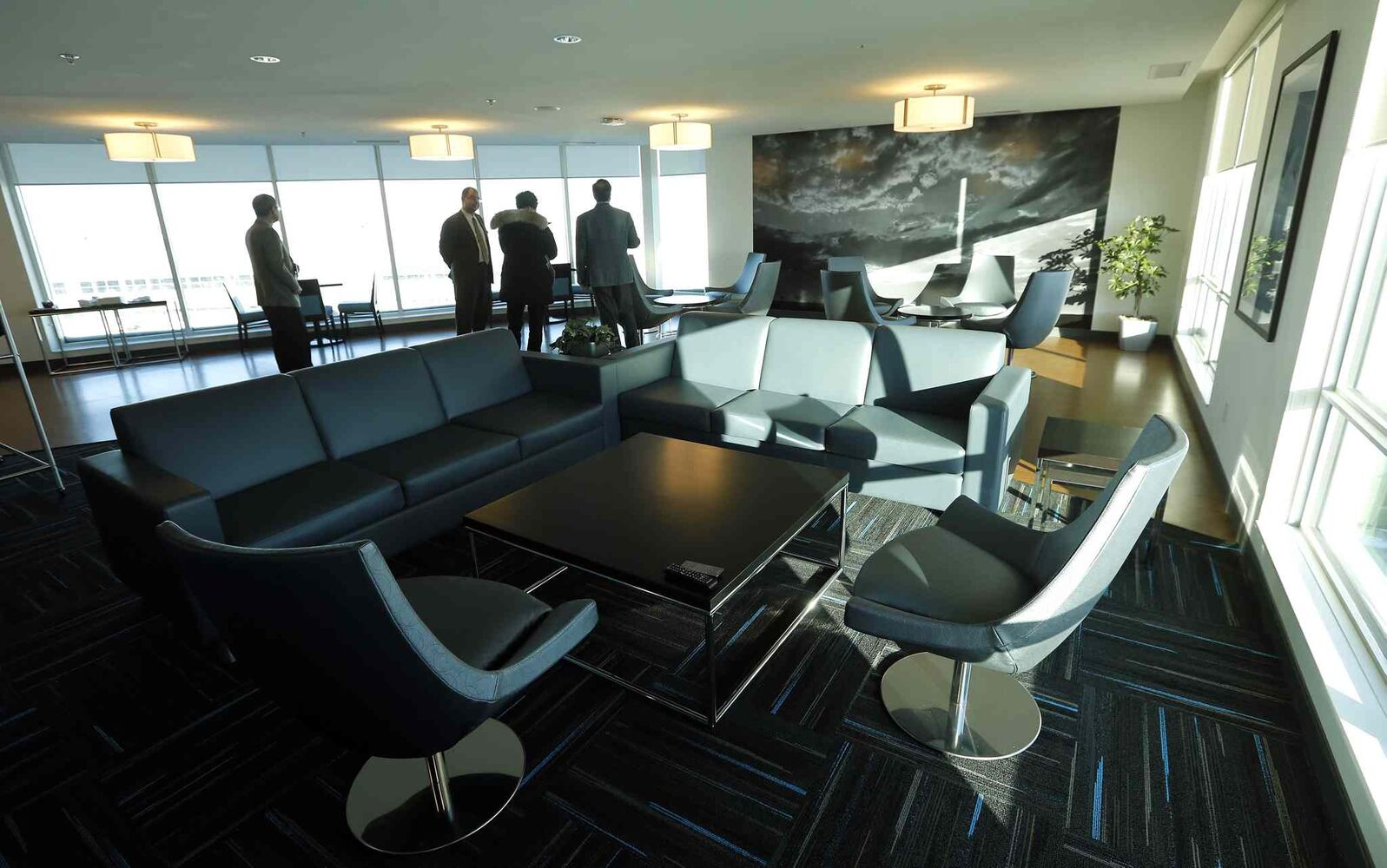Runway 36: the executive lounge overlooking the tarmac.