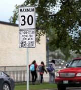 Curt Pankratz, an assistant professor of sociology at the University of Winnipeg, says plastic signs and speed bumps could easily be utilized to help reduce speeding, but aren't implemented because police traffic enforcement uses school zones as a money-maker.