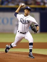 Tampa Bay Rays starting pitcher Chris Archer throws during the first inning of a baseball game against the New York Yankees, Saturday, April 19, 2014, in St. Petersburg, Fla. (AP Photo/Mike Carlson)