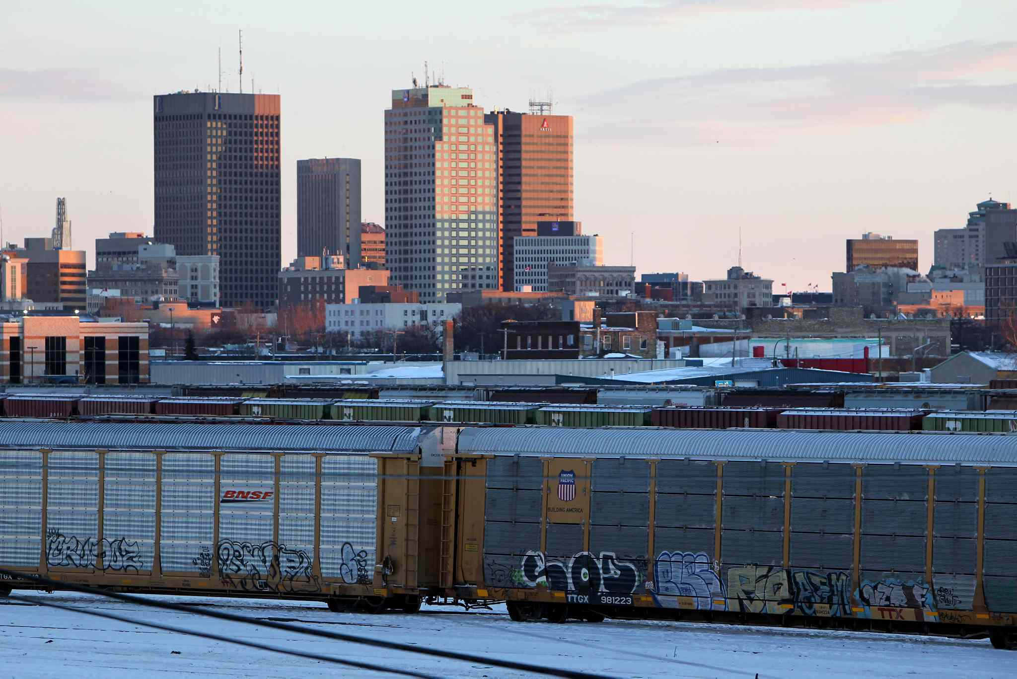 View of the CP rail yards in Winnipeg's North End.