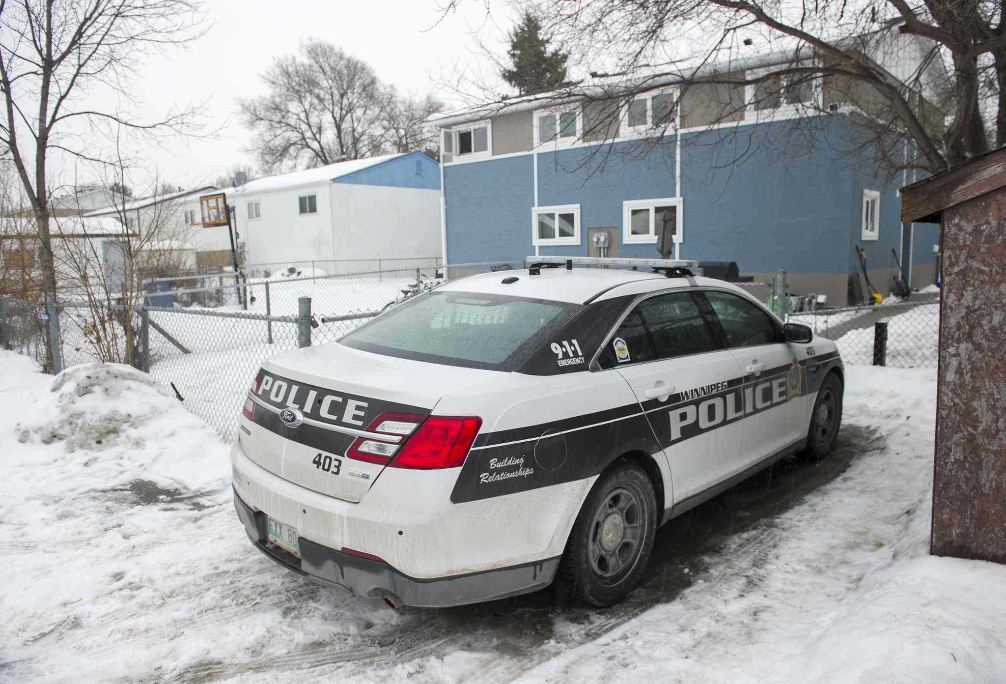 A police cruiser was parked outside of 15 Treger Bay Friday February 19, 2016 in connection with the Cooper Nemeth case.