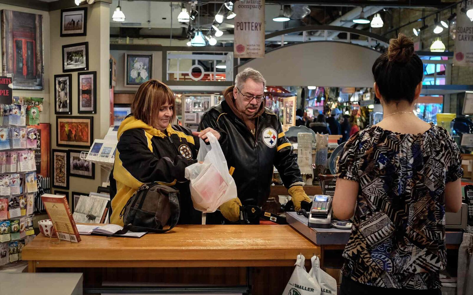 Buying a few things at The Forks.