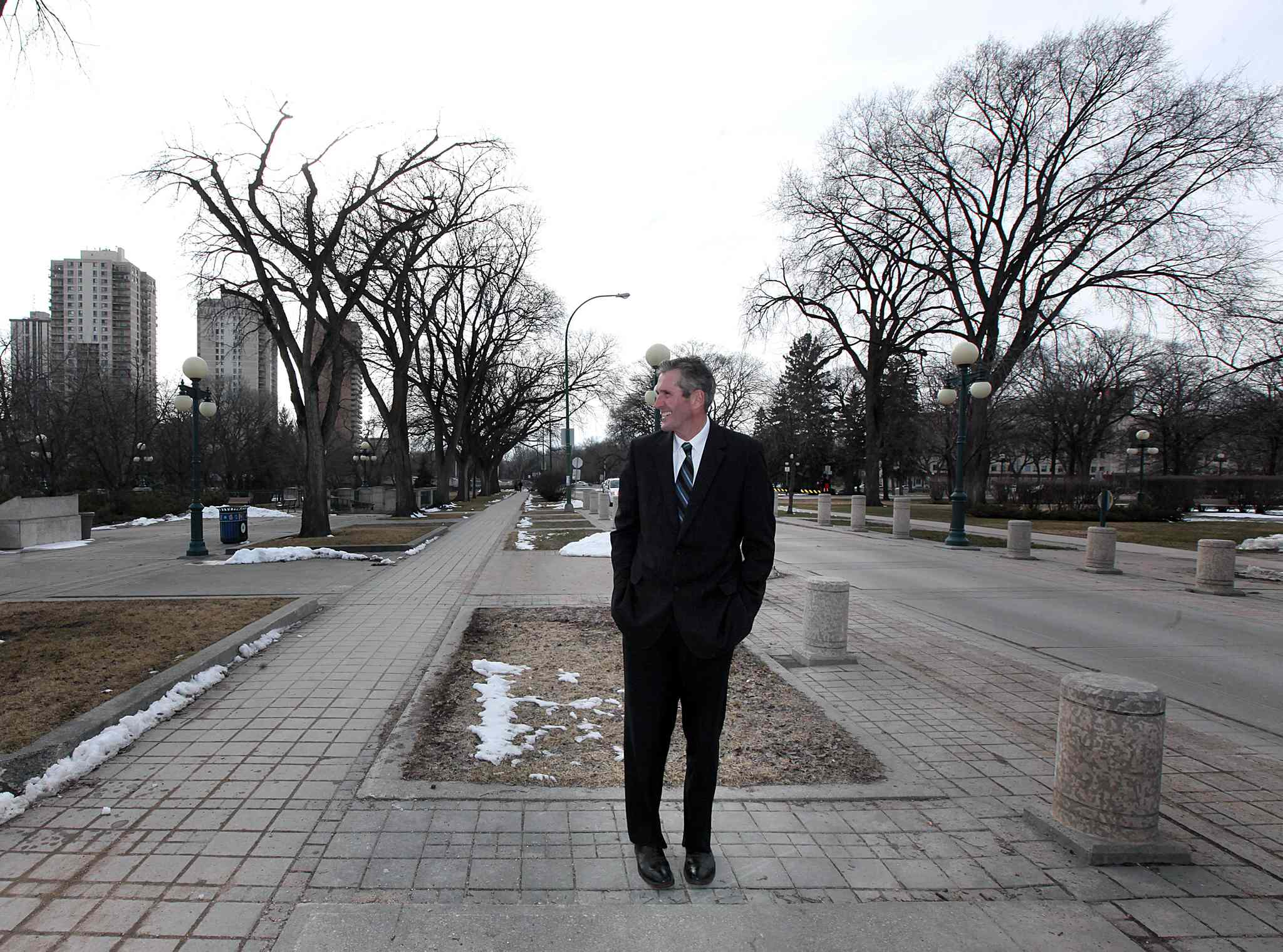 Pallister made tax cuts his focus in the opening days of the campaign.