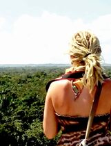 Jungle as far as the eye can see from the top of Lamanai's High Temple.