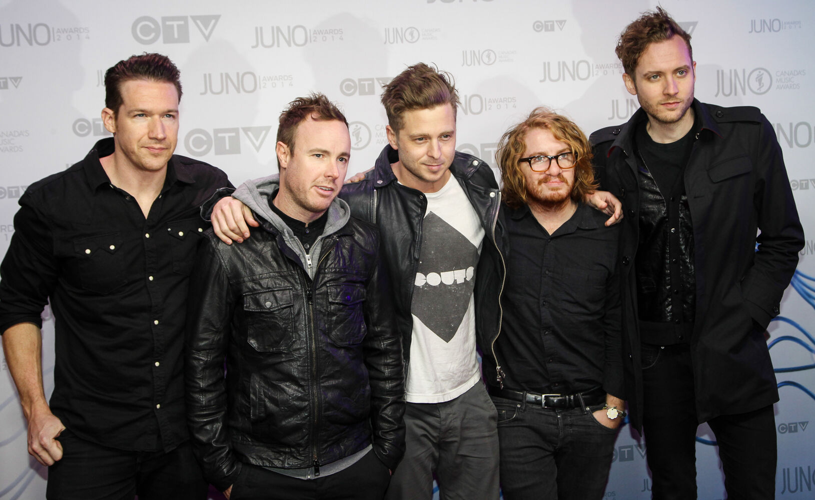 Juno performers OneRepublic arrive on the red carpet (Joe Bryksa / Winnipeg Free Press)