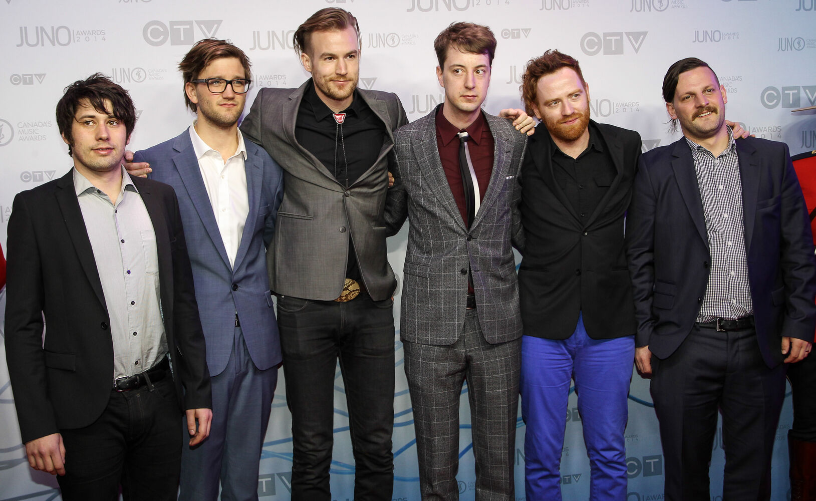 Winnipeg's Royal Canoe on the 2014 Juno Awards red carpet.