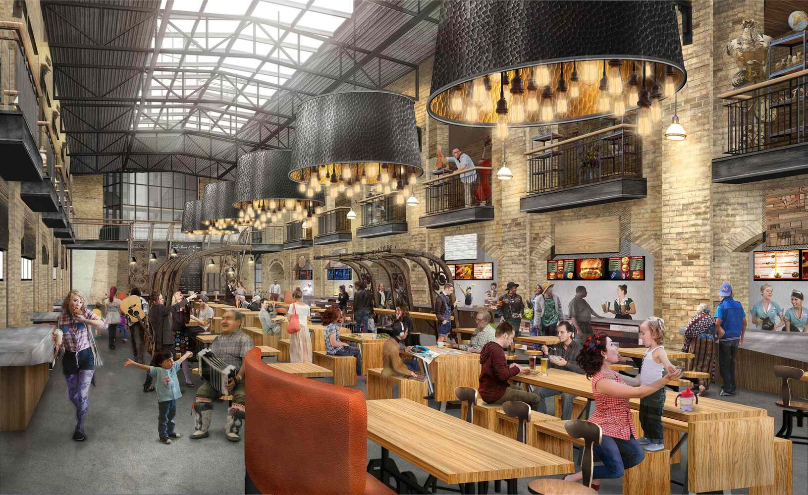 Artist's rendering of the new food court at The Forks. (The Forks)