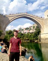 Maclean Boyd takes a break from the theatre in Mostar, southern Bosnia-Herzegovina.