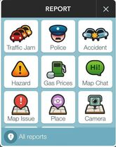 A page from the Waze app is seen in Washington, Wednesday, Jan. 28, 2015. A sheriffs' organization is broadening its concerns about the popular Waze mobile traffic app. Now it says a feature that lets drivers warn others about nearby police cruisers not only presents a threat to police safety from potential cop-killers, it also interferes with the ability to write speeding tickets.
