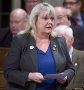 Revenue Minister Kerry-Lynne Findlay responds to a question during question period in the House of Commons on Parliament Hill in Ottawa on Wednesday April 9, 2014. THE CANADIAN PRESS/Adrian Wyld