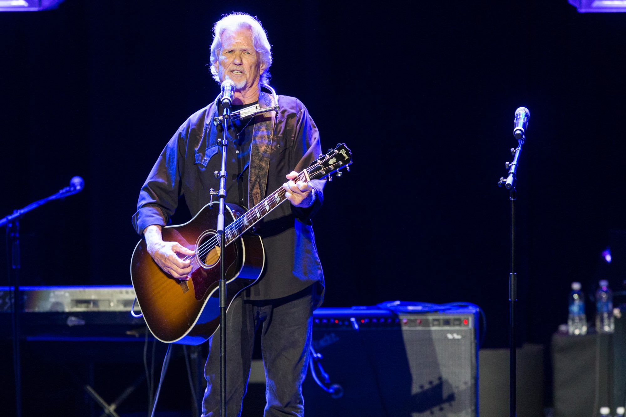 "Singer Kris Kristofferson performs on stage during the 16th Annual GRAMMY Foundation Legacy Concert  ""A Song Is Born,"" on Thursday, Jan. 23, 2014 in Los Angeles."