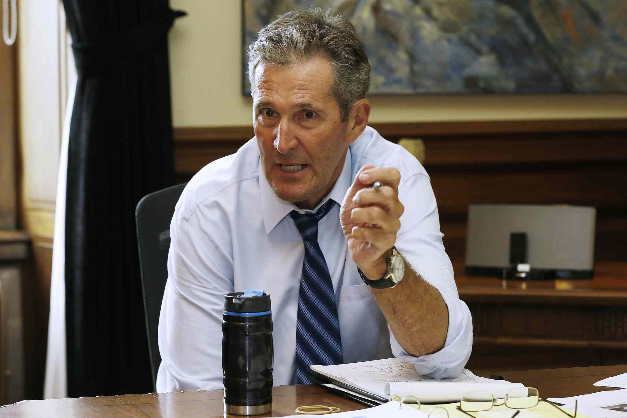 Premier Brian Pallister suggested the story about his out-of-country communications didn't immediately come to light because of the decisions of provincial bureaucrats who handle freedom of information requests.
