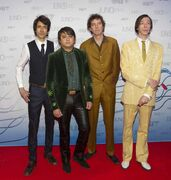 The Sadies arrive on the red carpet during the Juno Awards in Winnipeg in March.