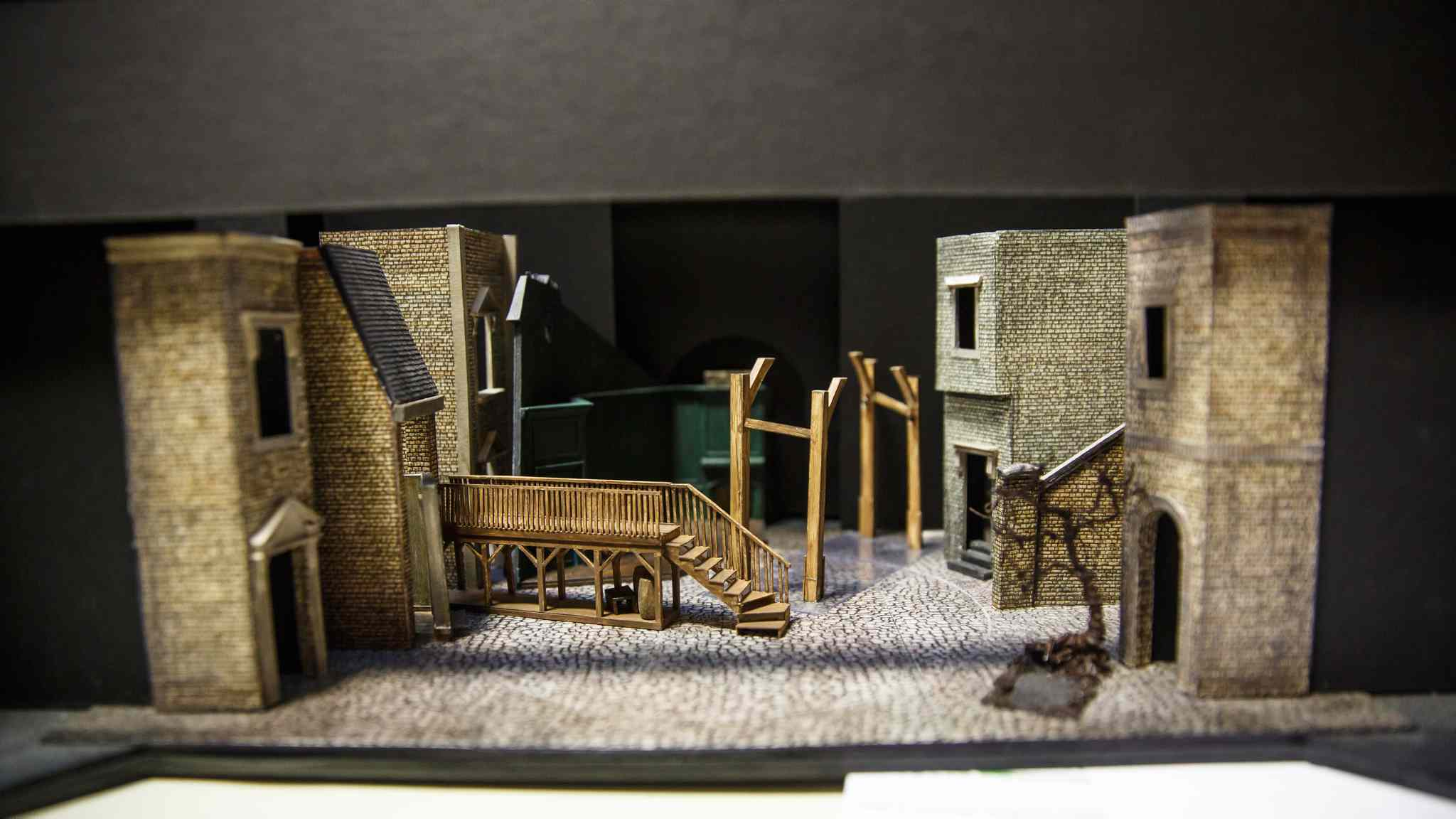 A miniature version of the set for the show sits in the rehearsal hall for consultation purposes. (Mike Deal / Winnipeg Free Press)