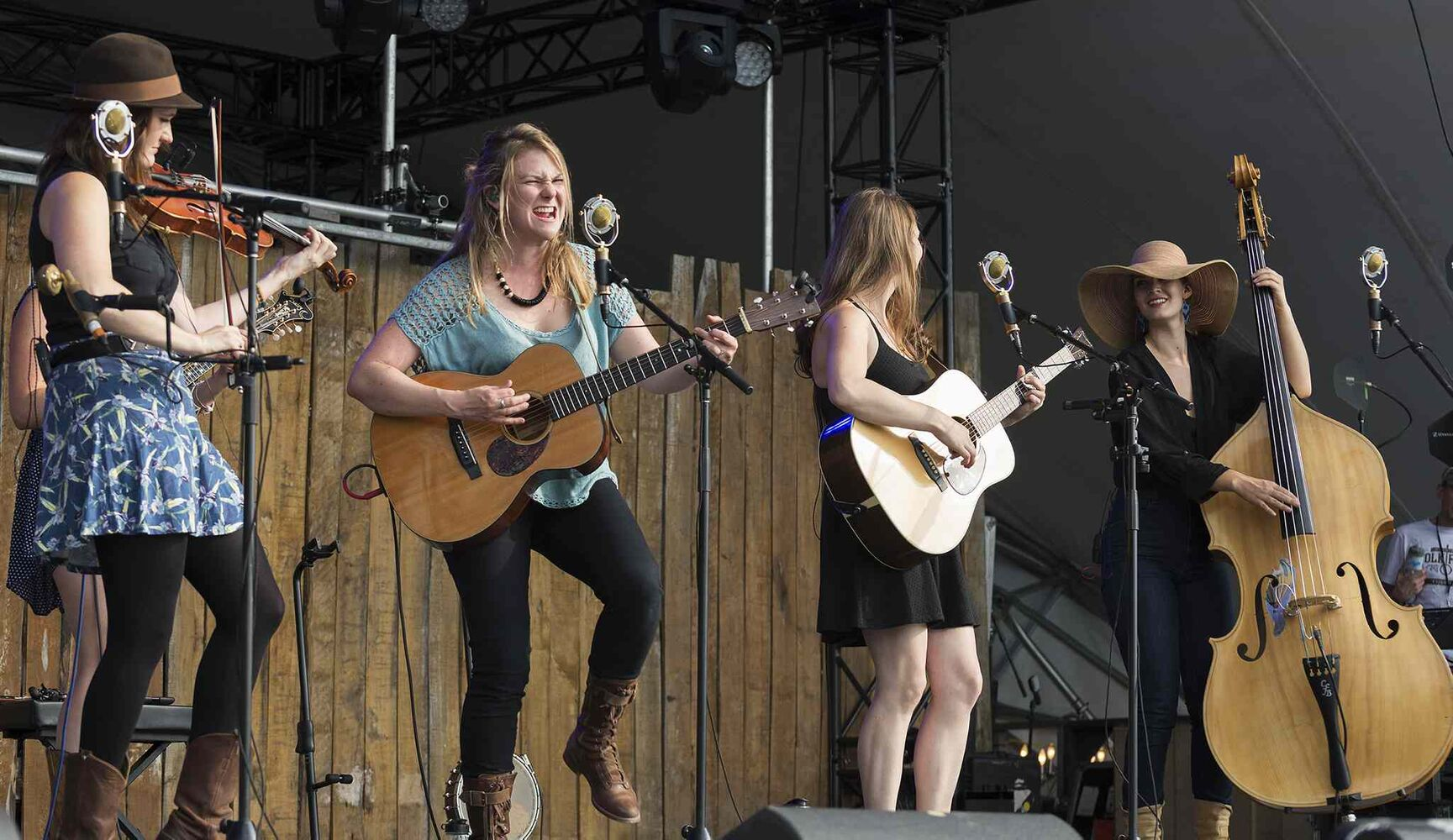 Della Mae performs Thursday night at Folk Fest.