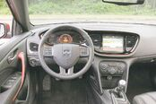 The cockpit and dash layout of the Dart GT are uncluttered and very modern.