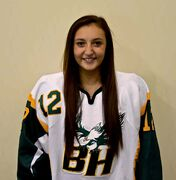 Ryleigh Houston, who plays forward for the Balmoral Hall Blazers prep hockey team, was named to Team Canada following a selection camp in August.