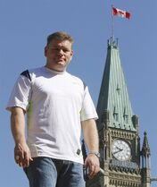 Conservative MP Randy Hoback is shown on Parliament Hill in Ottawa, Thursday July 12 2012. Quebec provincial police say a motorist struck two members of the Canadian Forces with his car, an incident Hoback cited in the House of Commons as a ``possible terror attack.''THE CANADIAN PRESS/Fred Chartrand