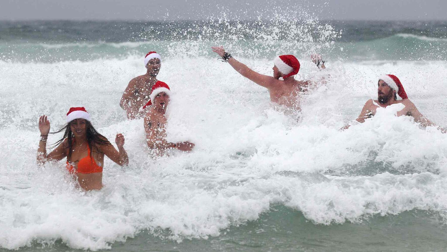 Crikey! Who wouldn't want to celebrate Christmas Day at Bondi Beach in Sydney, Australia? (The Associated Press archives)