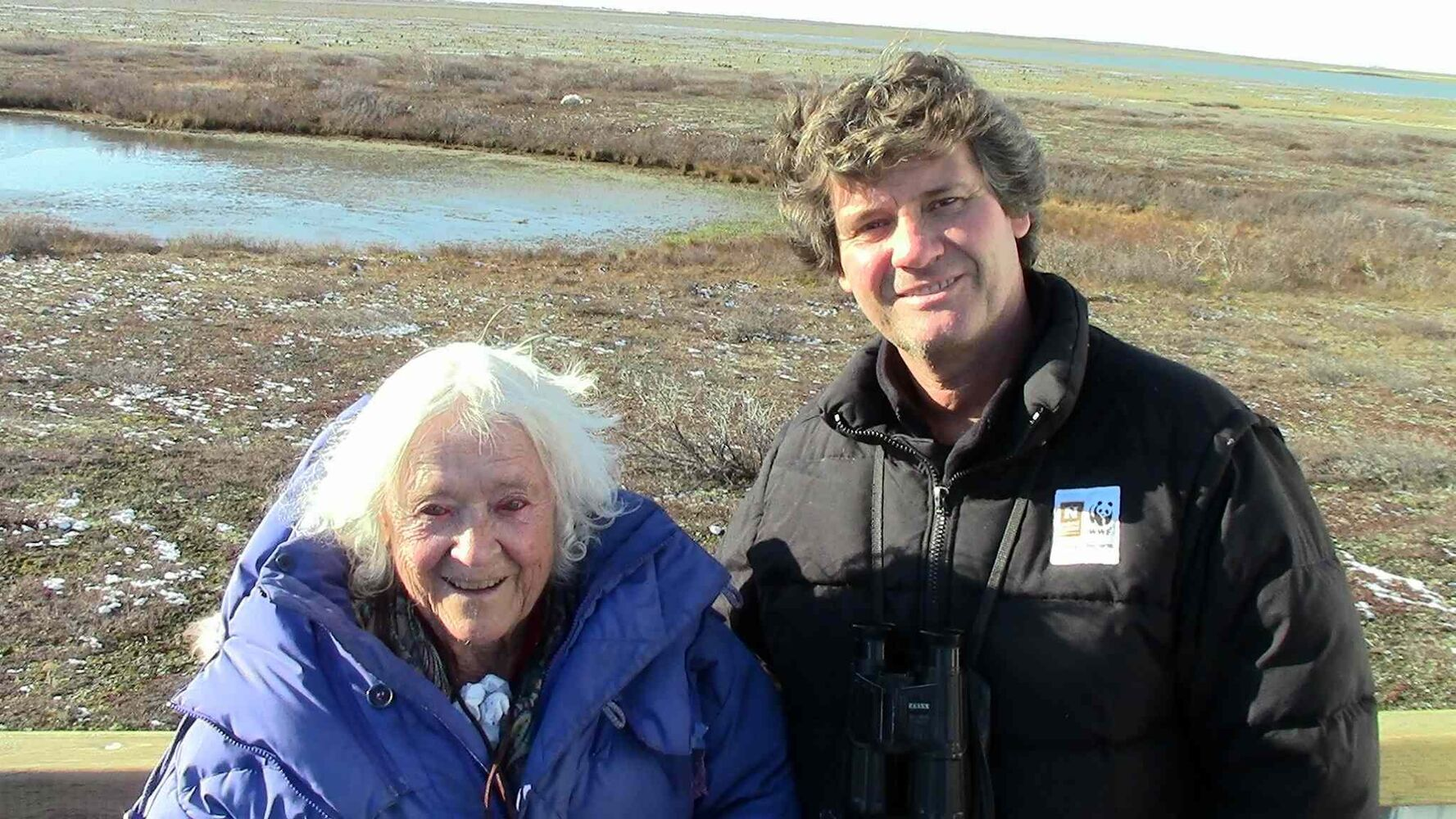 Elsa with expedition leader Rinie Van Meurs (Natural Habitat Adventures)