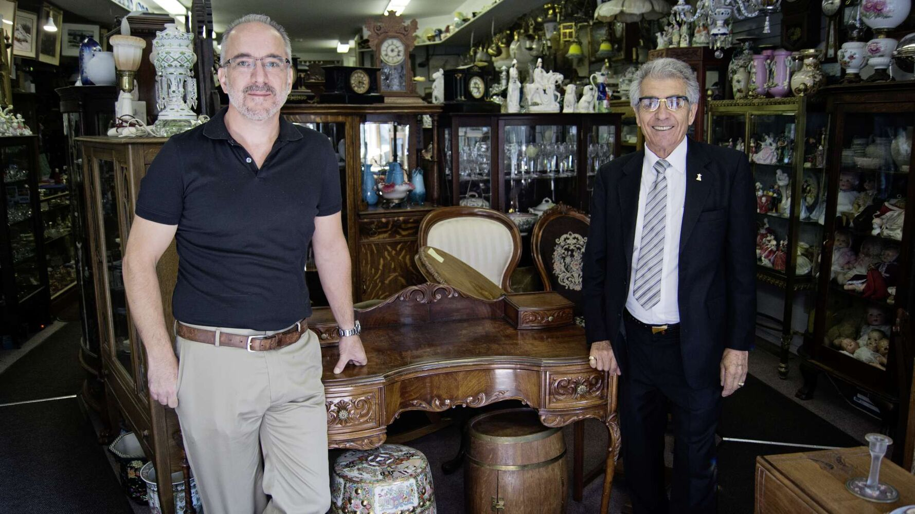 Dan and Selim (Sal) Aysan are the father-son duo running Selim's Antiques on Corydon Avenue. This shop specializes in fine and high-quality antiques and a bit of Winnipeg history. (Danielle Da Silva - Sou'wester)