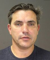 CORRECTS AGE TO 54 This photo provided by the Southampton Town Police Department on Long Island shows celebrity chef Todd English, 54, after his arrest early Sunday morning, Aug 31, 2014 in Southampton, N.Y., where he was charged with driving while intoxicated. English has opened a number of restaurants around the country, including Olives, Figs, and Fish Club. He's also been a regular on television programs including