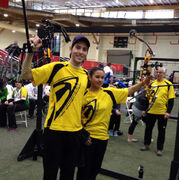 Feb. 18, 2015 - Keenan Brown, of North Kildonan, and Bryanne Lameg captured Manitoba's second gold medal at the 2015 Canada Winter Games in Prince George, B.C. in mixed team archery. (SUPPLIED)