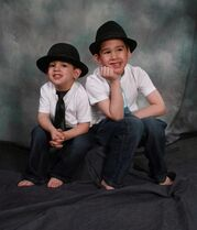 Noah Barthe, left, and Connor Barthe pose in this undated photo posted on the Facebook page of Mandy Trecartin. The RCMP in New Brunswick say they have investigated the deaths of the two boys who were asphyxiated by a python and have handed the case to the Crown to determine whether charges should be laid.THE CANADIAN PRESS/HO - Facebook