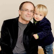 Adrian Hawaleshka, author of The Chair by the Side of the Road, and his son Luka.