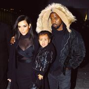 Kim Kardashian West, Kanye West and North