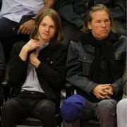 Val Kilmer with his son Jack at the LA Lakers game