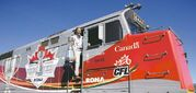 On track for football fun 'Toba timetable All aboard Grey Cup train