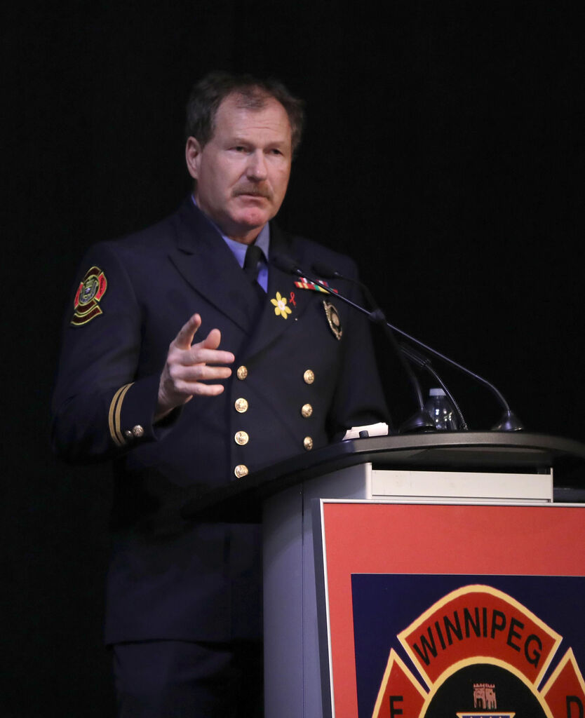 United Firefighters of Winnipeg president Alex Forrest said he will defend the firefighters at the centre of the allegations. (Ruth Bonneville / Winnipeg Free Press files)