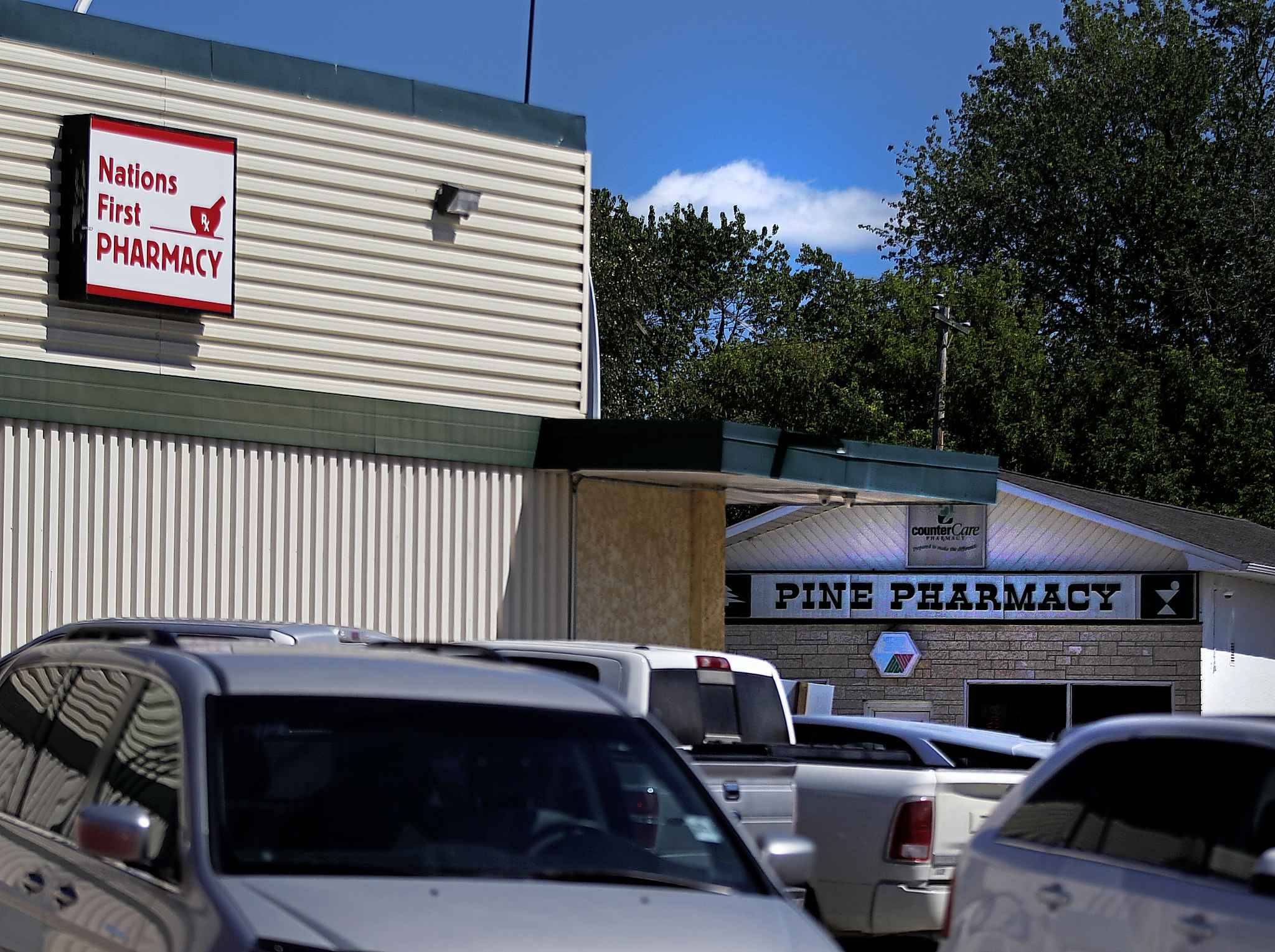 Residents question why the town has so many pharmacies. (Phil Hossack / Winnipeg Free Press)