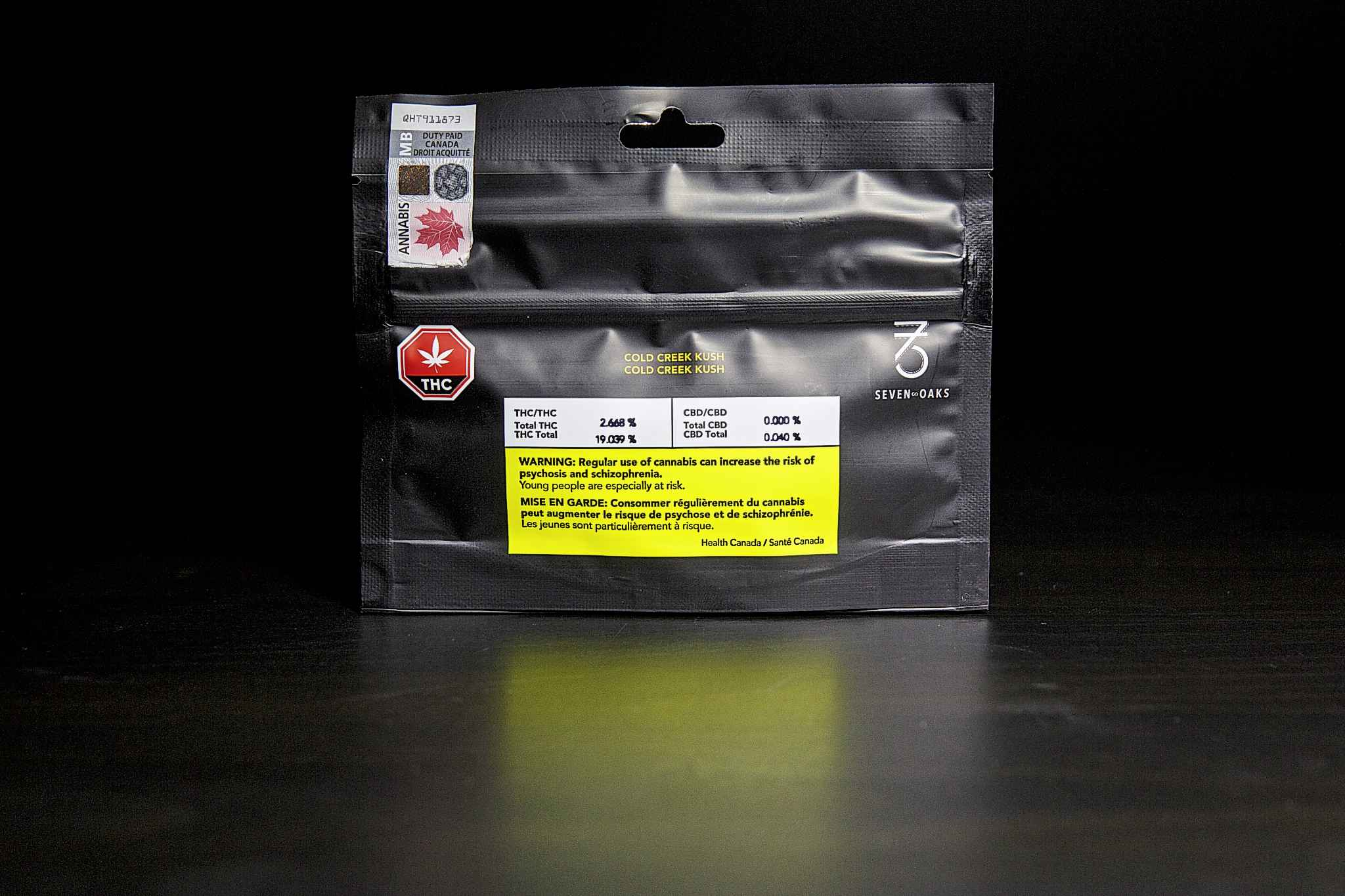 By law, legal cannabis packages in Canada must prominently display one of a variety of government-designed warning messages. (Mike Deal/Winnipeg Free Press)